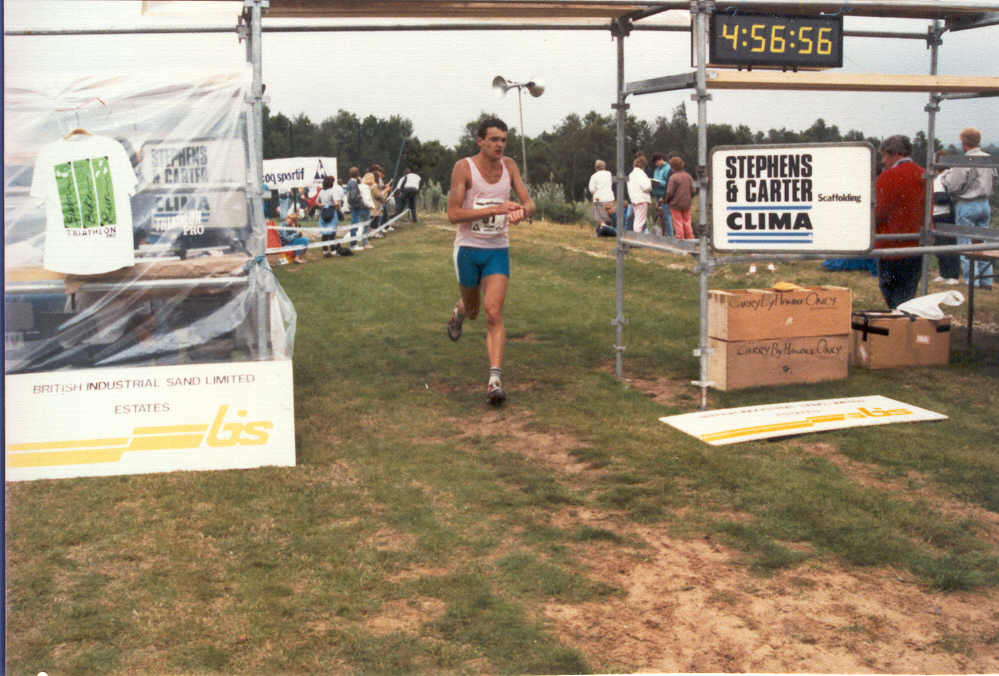 1989 Triathlon Finish